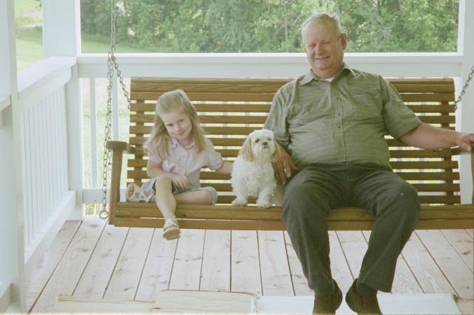 swinging with grandpa
