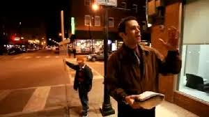 Preaching on street corner