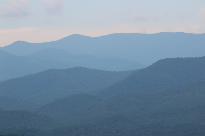 layers of Blue Ridge Mountains