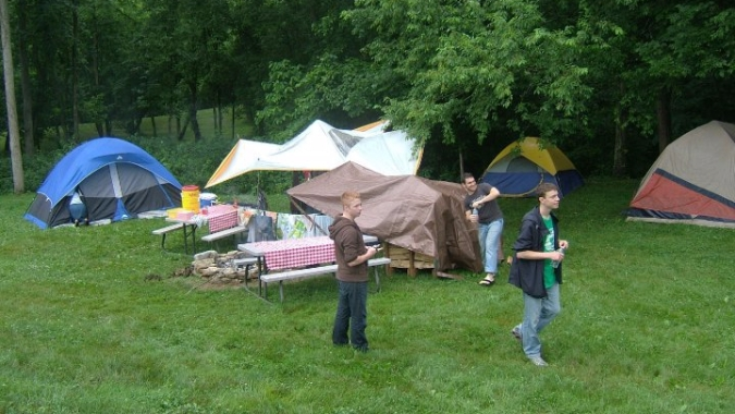 tenting-in-the-rain