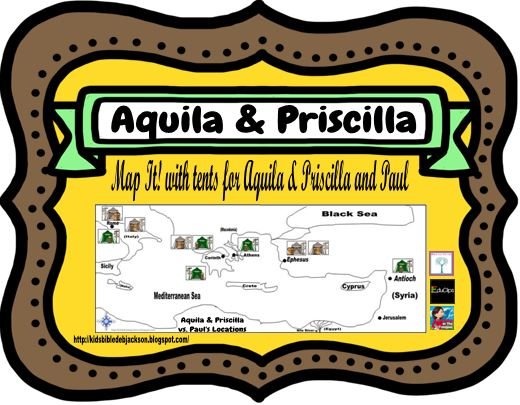 Map Priscilla and Aquila