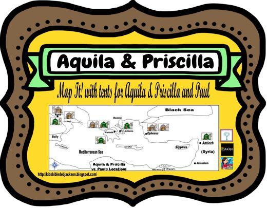 Map Priscilla and Aquila