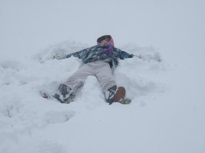 making-snow-angels