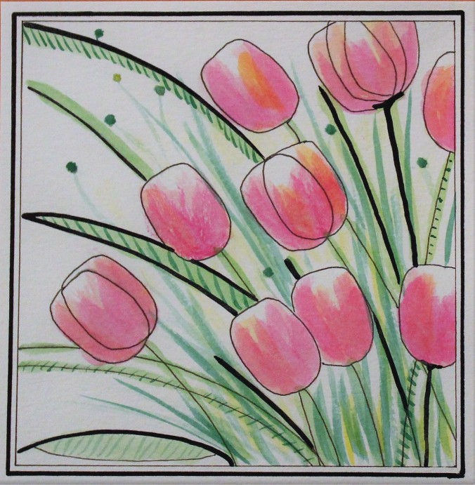watercolor-tulips