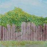 artistic rendering of my backyard scene