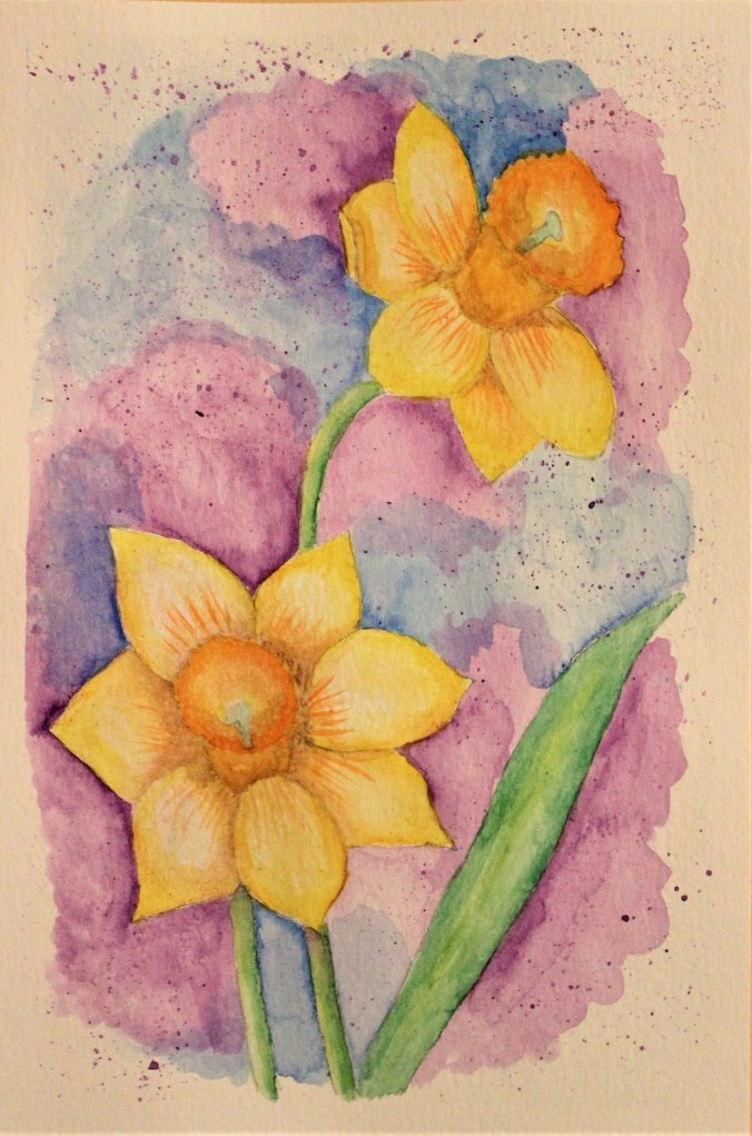 watercolor-daffodils