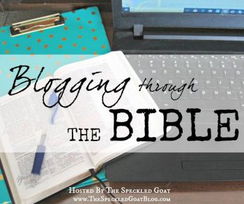 Blogging thru the Bible