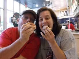 Being silly at Krispy Kreme