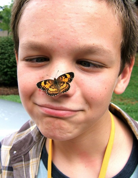 young-boy-with-butterfly-on-his-nose
