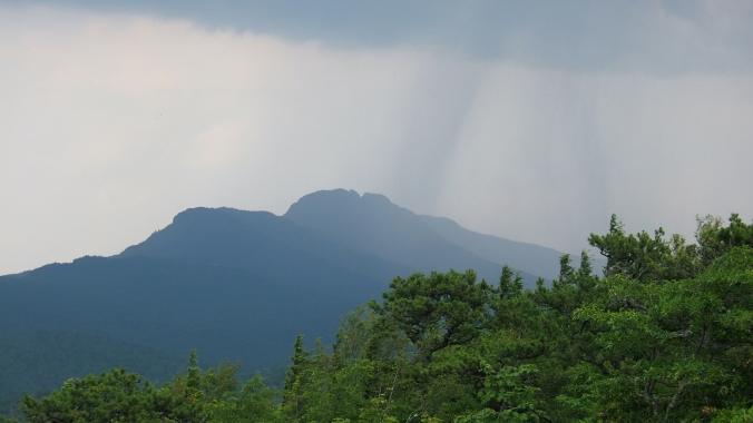 distant rain in the mountains