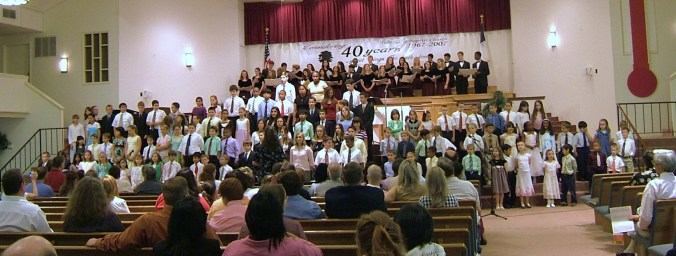 all-school choir at Spring Concert 2007