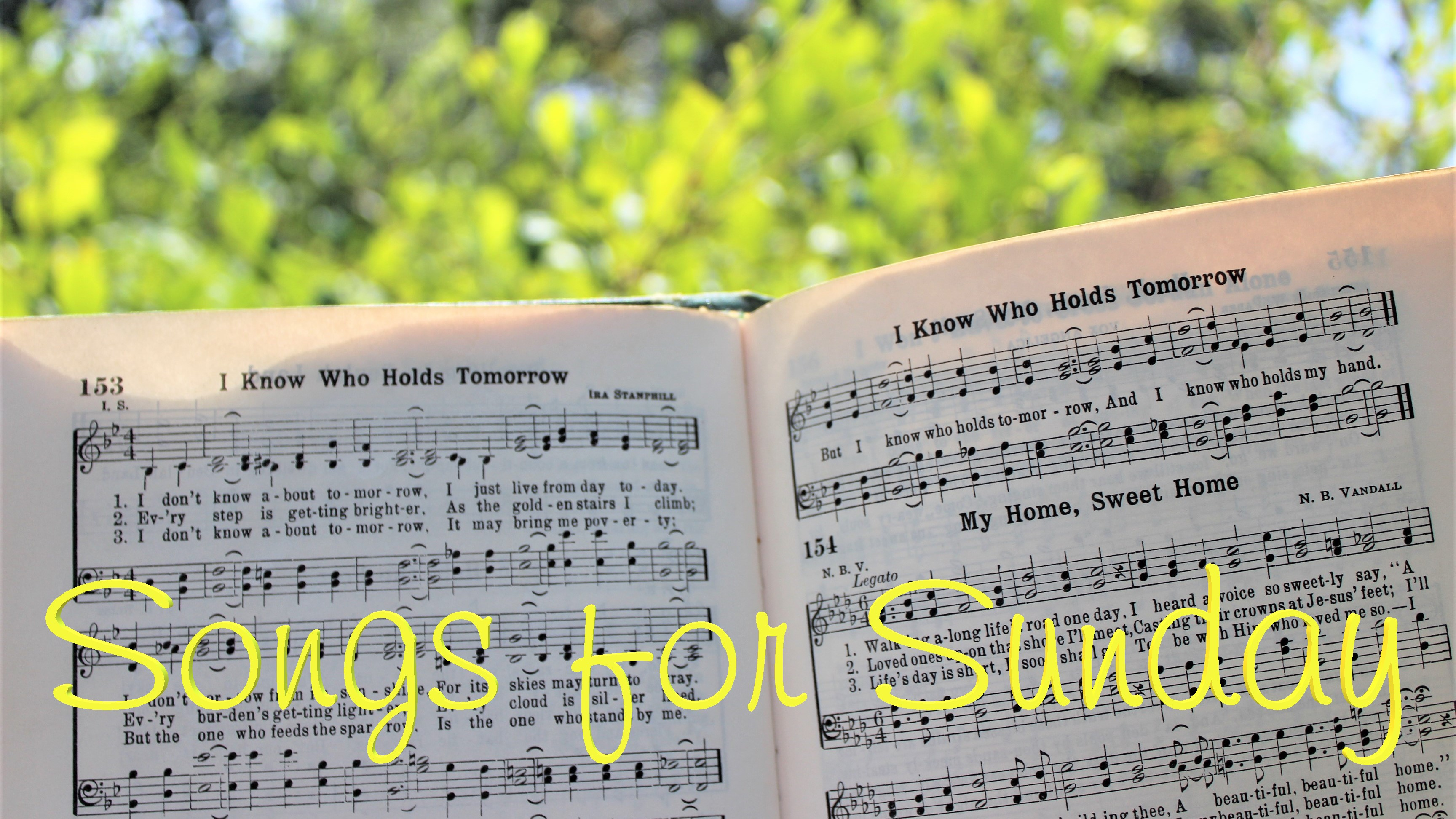 open hymnal in the sunshine