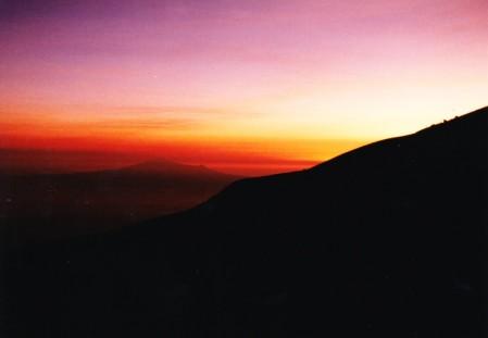 climbing the Popocateptl at dawn
