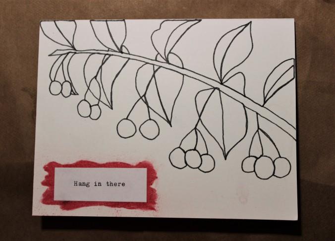 line drawing of berries