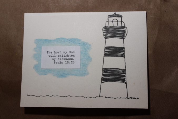 line art drawing of a lighthouse